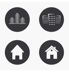Modern real estate icons set vector