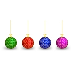 Christmas balls of different colours vector
