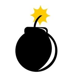 Boom explosion silhouette icon vector