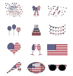American celebration and symbols vector image