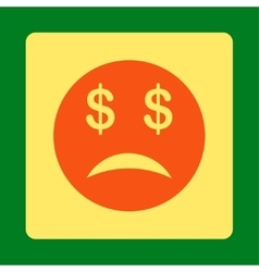 Bankrupt Smiley Icon from Commerce Buttons vector image vector image