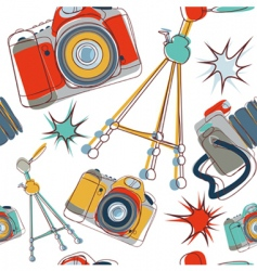 camera pattern vector image vector image