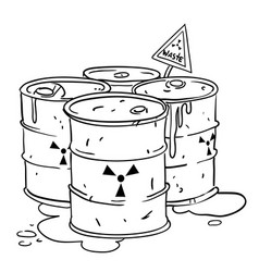 Cartoon image of radioactive waste vector