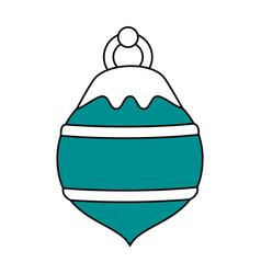 Christmas round ornament design vector