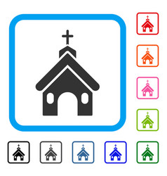 church framed icon vector image vector image