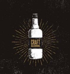 Craft alcohol brewery artisan creative vector