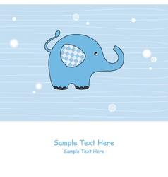 elephant blue vector image vector image