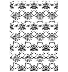 Floral block print vector