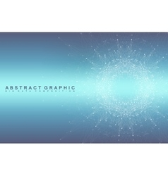 Graphic abstract background communication Big vector image vector image