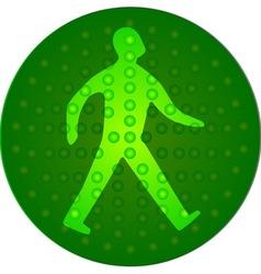 Green walking man vector