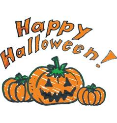 Halloween background doodle pumpkin vector image