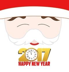 Happy new year 2017 santa claus background vector