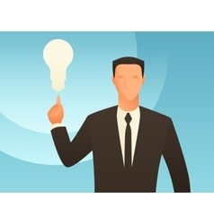 Idea business conceptual with vector image