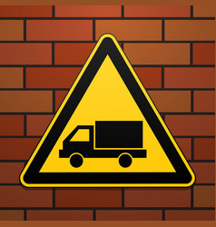 International safety warning sign watch out for vector