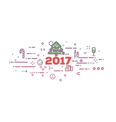 New 2017 year vector image vector image
