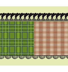 scottish fabric delicate embroidery vector image