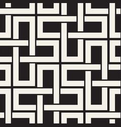 Seamless black and white cross lattice pattern vector