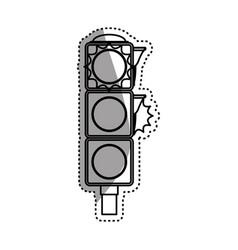 semaphore traffic light post vector image vector image