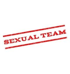 Sexual team watermark stamp vector