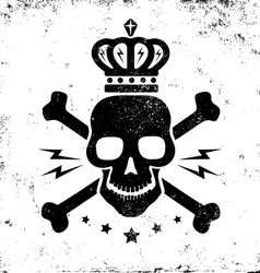 skull grunge vector image vector image