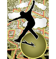 vintage urban grunge skate vector image