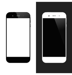 White black smartphones vector image vector image