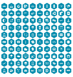 100 dispatcher icons sapphirine violet vector