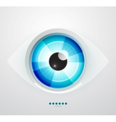 Abstract techno eye vector image
