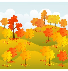 Sunny forest vector