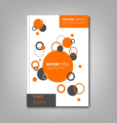 Brochures book or flyer with abstract orange vector