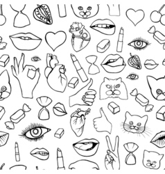 Fashion patch badges seamless pattern vector