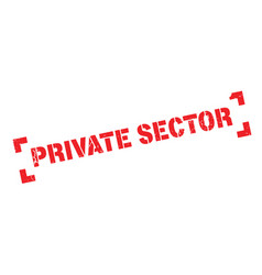 Private sector rubber stamp vector