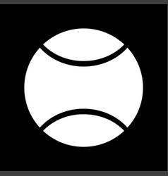 Tennis ball white color icon vector