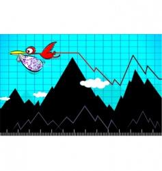 bird and bag vector image
