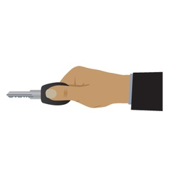 Hand with a key vector