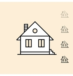 icon of Home vector image