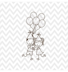 Happy children on party design vector