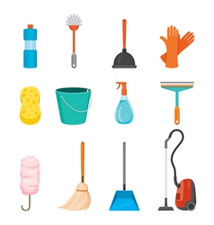 Cleaning home appliances icons set vector