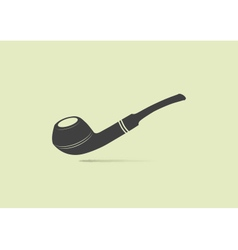 Web application icon of a smoking pipe vector