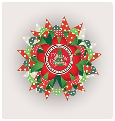 Christmas paper jewelry vector image