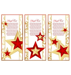 abstract set frame with stars vector image