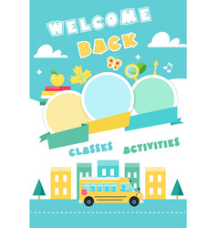 Back to school poster ot banner vector