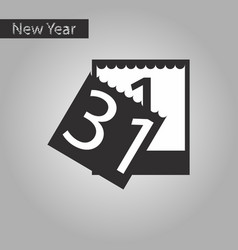 Black and white style icon of tear-off calendar vector