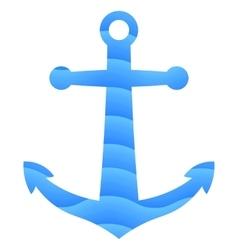 Blue anchor icon vector