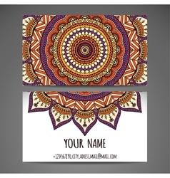 Business Cards Vintage decorative elements vector image