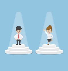 Businessman and businesswoman standing and vector