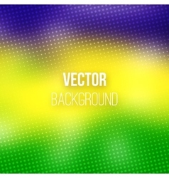 Colorful Blurred Background With Halftone Effect vector image vector image