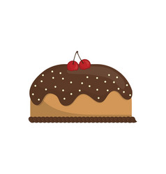 delicious birthday cake vector image