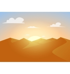 Desert landscapeDunes with sunset vector image