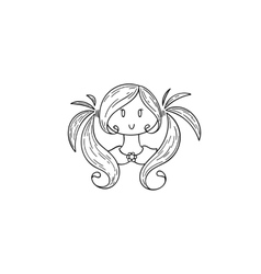 Doodle child vector